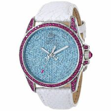 "New Womens Juicy Couture ""Stella"" Leather Band Blling Watch 1901132 $495"