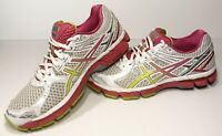 Asics Gel GT-2000 Womens Running Shoes Size 8.5 White Pink Yellow T3P8N
