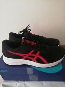 UK 10 Asics Patriot 12 Black/Classic Red Road Running Shoes EU 45 US 11