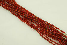 2mm Faceted Round Carnelian Bead