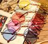 Women Retro Round Glasses Lens Sunglasses Fashion Eyewear Plastic Frame Glasses