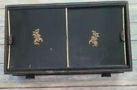Vintage ~ Swank ~ Black w/Gold ~ Men's Jewelry Box w/Tie Tacks ~ Cuff-Links...