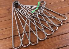 8X Stainless Steel Clothes Coat Hangers 7mm Thick