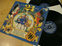 2 LP Die 24 Grossen Deutschen Märsche und Choräle Vinyl Philips 6623 128