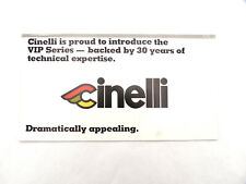 """Cinelli Vip Catalog Poster Ultima group foldout 1970's- 80's 12x25"""" Poster"""
