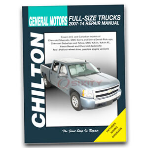 Chilton Repair Manual for 2007-2013 Chevrolet Avalanche - Shop Service qh