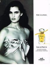 PUBLICITE ADVERTISING   1991  HERMES  parfum CALECHE   soie de parfum