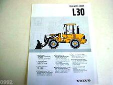 Volvo BM L30 Wheel Loader Brochure