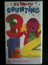 BARNEY ~ IT'S TIME FOR COUNTING ~ VHS VIDEO