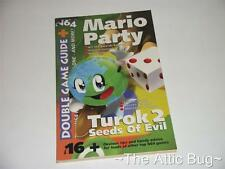 N64 Revista ~ Doble Juego Guía No. 16 ~ Mario Party / Turok 2 Seeds Of Evil