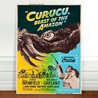 "Stunning Vintage Cinema Poster Art ~ CANVAS PRINT 16x12"" ~ Beast of the Amazon"