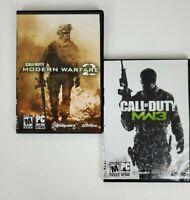 PC (2) Game Lot! Call of Duty: Modern Warfare 2 & Modern Warfare 3! MW2 MW3