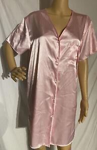 Vintage Secret Treasures Satin Sleep Shirt Nightgown Nightie Pink Medium