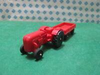 Vintage Gummiauto  - TRAKTOR mit anhànger  - 1/43 PN