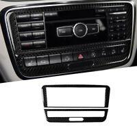 Kohlefaser Konsole CD Panel Abdeckung Trim Für Mercedes Benz GLA CLA A-Klasse