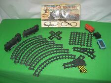 Vintage 17 Piece TWO-IN-ONE Train Set Battery Operated by Marx Toys