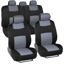 Car Seat Covers for Honda Civic Sedan Coupe Grey & Black Split Bench