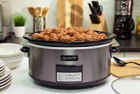 Crock-Pot - 8-Quart Slow Cooker - Black Stainless