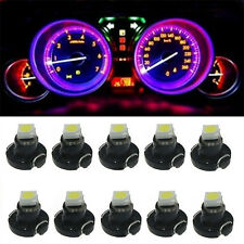 50x Pink Purple LED T3 Neo Wedge SMD LED Dash Climate Cluster Gauge Light Bulbs