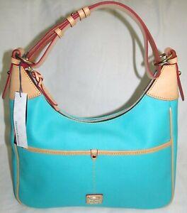 Dooney & Bourke Carley Rebecca SeaFoam Green XL Hobo Shoulder Bag Purse Tote