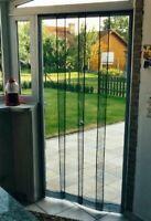 Tenda zanzariera a pannelli per porta finestra riducibile 120x240 zanzariere