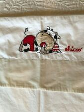 Chicco Toddler Bed Flat Sheet & Pillowcase Cow Baby Red Tan Black Ivory Cotton