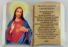 Oracion Al Sagrado Corazon de Jesus (Para Mesa o Pared)New 6x4 Pulgadas