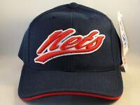 New Jersey Nets NBA Vintage Adjustable Strap Hat Cap American Needle Navy