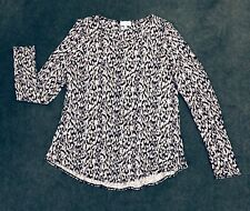 WITCHERY: Size: L.(14-16). Modern Multi Coloured Slimming Print, L/Sleeve Top