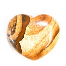 Natural Picture Jasper Heart Crystal 25mm Protection Meditation Gemstone