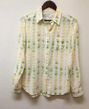 Equipment Femme Blouse Tunic Silk Women's S Fun Print Fruit Lemons Limes