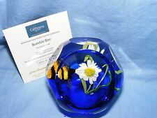 Caithness whitefriars glass paperweight British GIARDINO Bumble Bee Ltd Ed di 50