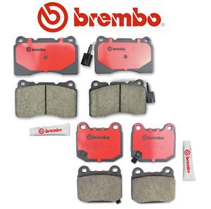 Front Brake Pads & Rear Brake Pads Set OEM Brembo Ceramic Impreza WRX STI Lancer