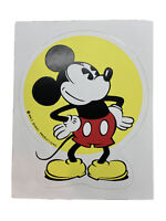 "Original Vintage Unused Disney Mickey Mouse Sticker Decal 4.5""x3.5"" WDP"