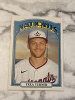 2021 Topps Heritage Baseball Trea Turner Washington Nationals Card #183