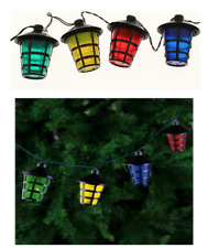 40 LED CHRISTMAS LANTERN LIGHTS MULTI COLOURED MAINS PLUG INDOOR OUTDOOR 40LED