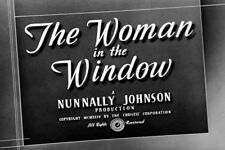 Film Noir: THE WOMAN IN THE WINDOW, 1944, Edward G. Robinson: DVD-R  Region 2