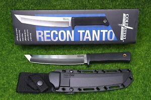 "Cold Steel Recon Tanto, Tanto Point, Plain Edge 7"" Blade/Sheath, Kray-Ex - 35AM"