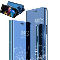 New Slim Cover Luxury Mirror View Flip Stand Case For Xiaomi Redmi 6 6 Pro S2 6A