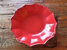 Vintage PORT RED Round Dinner Plate by CASAFINA Casa Stone Portugal Stoneware