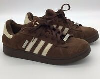 Adidas Campus ST Brown Trefoil 3 Stripes Spell out  Suede Shoes Mens 10