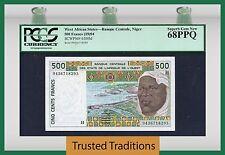 TT PK 610Hd 1994 WEST AFRICAN STATES / NIGER 500 FRANCS PCGS 68 PPQ SUPERB GEM