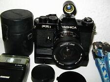 YASHICA FR 1 photo kit with lens, engine, viewfinder, etc