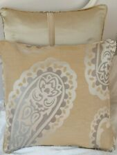 "16"" Emperor Paisley Gold cushion cover laura  Ashley Silk Fabric (piped)"