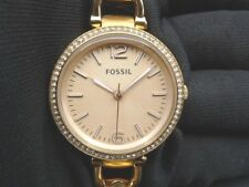 New Old Stock- FOSSIL GEORGIA ES3226 - Rose Gold Tone Stainless Steel Lady Watch