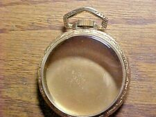 New Old Stock 16S 2 Slot Leverset 10K Rolled Gold Plate Pocket Watch Case.