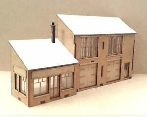 Shop & Warehouse Laser Cut Scratch Aid Layout Kit 00 Gauge 4mm Model Railway