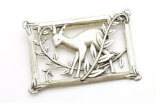 Vintage Norseland By Coro Sterling Silver Deer Fawn Brooch Pin Bambi