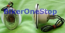 WE35011 - Flush Mounting CAT EYE Fairing INDICATORS CLEAR Pair Small NEW