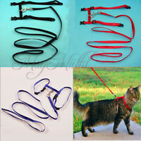 Nylon Pet Cat Kitten Adjustable Harness Lead Leash Collar Belt Safety Rope O